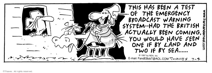 Comic Strip Bob Thaves Tom Thaves  Frank and Ernest 1997-07-04 midnight