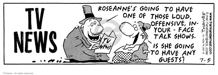 Comic Strip Bob Thaves Tom Thaves  Frank and Ernest 1997-07-05 news