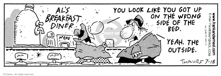 Comic Strip Bob Thaves Tom Thaves  Frank and Ernest 1997-07-18 getup