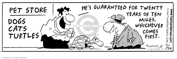 Comic Strip Bob Thaves Tom Thaves  Frank and Ernest 1997-07-24 buyer