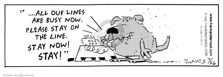 Cartoonist Bob Thaves Tom Thaves  Frank and Ernest 1997-07-26 phone recording