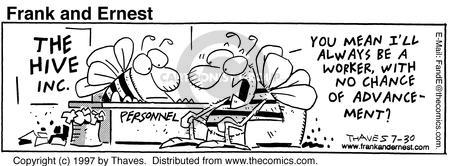 Comic Strip Bob Thaves Tom Thaves  Frank and Ernest 1997-07-30 employee