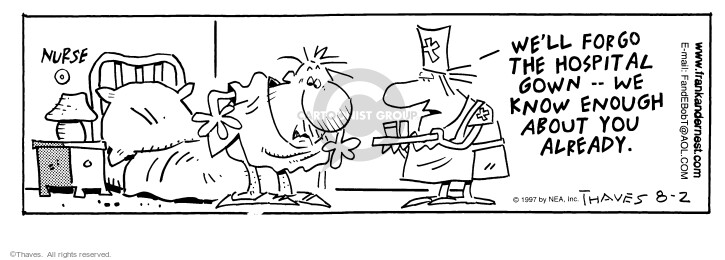 Comic Strip Bob Thaves Tom Thaves  Frank and Ernest 1997-08-02 practical