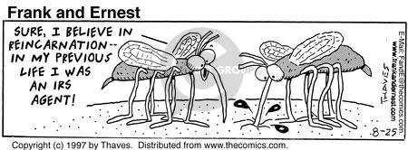 Comic Strip Bob Thaves Tom Thaves  Frank and Ernest 1997-08-25 infection