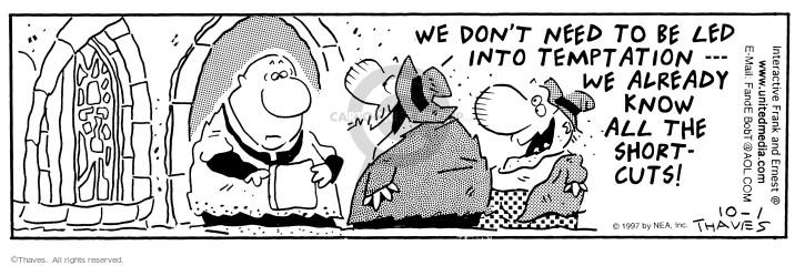 Comic Strip Bob Thaves Tom Thaves  Frank and Ernest 1997-10-01 short