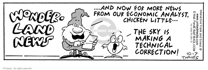 Comic Strip Bob Thaves Tom Thaves  Frank and Ernest 1997-10-07 prediction