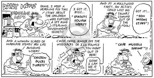Comic Strip Bob Thaves Tom Thaves  Frank and Ernest 1997-10-12 department