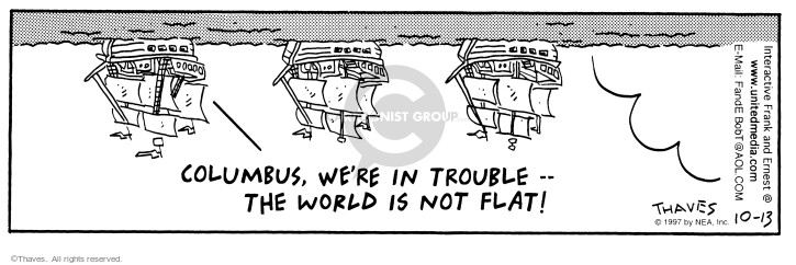 Cartoonist Bob Thaves Tom Thaves  Frank and Ernest 1997-10-13 Spain