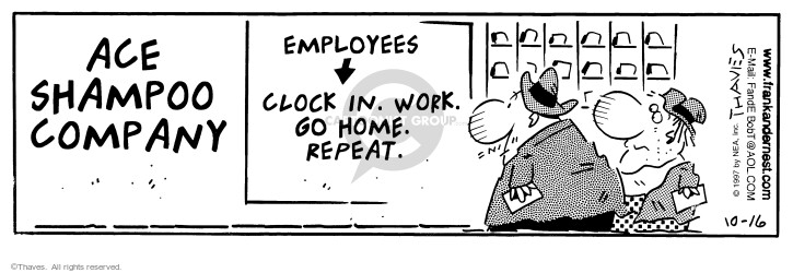 Comic Strip Bob Thaves Tom Thaves  Frank and Ernest 1997-10-16 employee