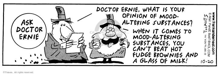 Cartoonist Bob Thaves Tom Thaves  Frank and Ernest 1997-10-20 wise man