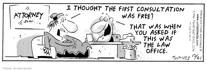 Comic Strip Bob Thaves Tom Thaves  Frank and Ernest 1997-10-21 legal
