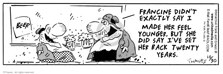 Comic Strip Bob Thaves Tom Thaves  Frank and Ernest 1997-10-30 relationship