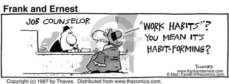 Comic Strip Bob Thaves Tom Thaves  Frank and Ernest 1997-11-04 employee