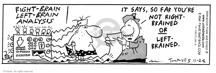 Comic Strip Bob Thaves Tom Thaves  Frank and Ernest 1997-11-24 neurology