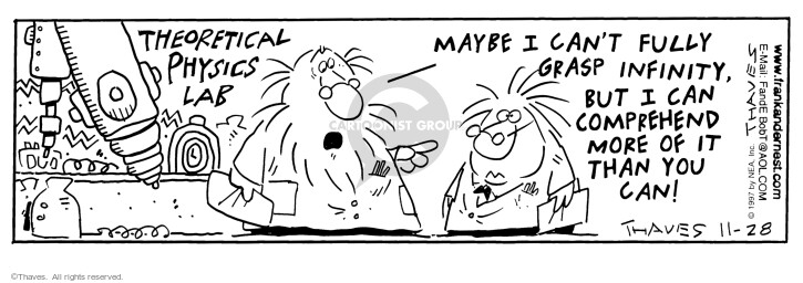 Comic Strip Bob Thaves Tom Thaves  Frank and Ernest 1997-11-28 theatrical