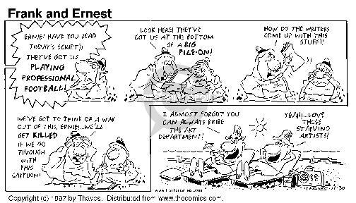 Comic Strip Bob Thaves Tom Thaves  Frank and Ernest 1997-11-30 pile