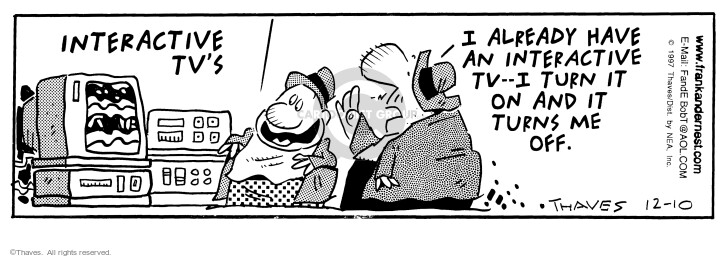 Comic Strip Bob Thaves Tom Thaves  Frank and Ernest 1997-12-10 electronics