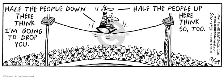 Comic Strip Bob Thaves Tom Thaves  Frank and Ernest 1997-12-29 drop down