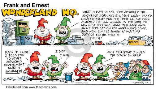 Comic Strip Bob Thaves Tom Thaves  Frank and Ernest 1998-01-11 disaster
