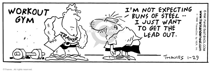 Comic Strip Bob Thaves Tom Thaves  Frank and Ernest 1998-01-29 shape