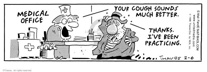 Cartoonist Bob Thaves Tom Thaves  Frank and Ernest 1998-02-06 medical