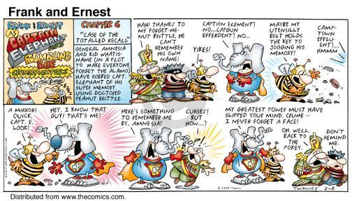 Comic Strip Bob Thaves Tom Thaves  Frank and Ernest 1998-02-08 rob