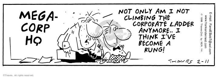 Comic Strip Bob Thaves Tom Thaves  Frank and Ernest 1998-02-11 employee