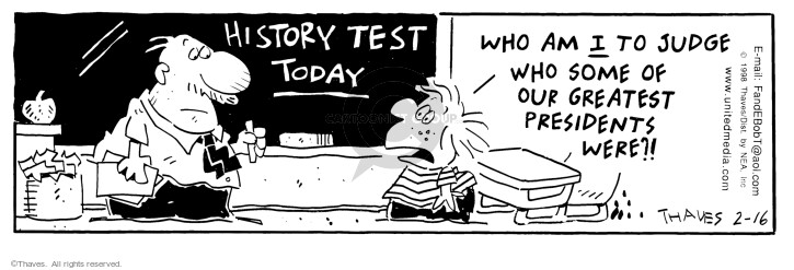 Comic Strip Bob Thaves Tom Thaves  Frank and Ernest 1998-02-16 school exam