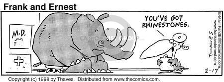Cartoonist Bob Thaves Tom Thaves  Frank and Ernest 1998-02-17 medical