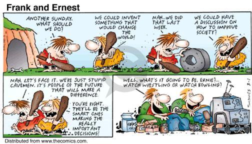 Comic Strip Bob Thaves Tom Thaves  Frank and Ernest 1998-03-01 something