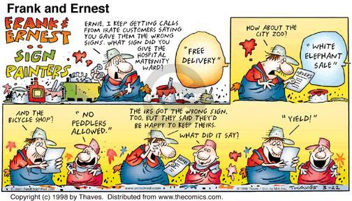 Cartoonist Bob Thaves Tom Thaves  Frank and Ernest 1998-03-22 discount