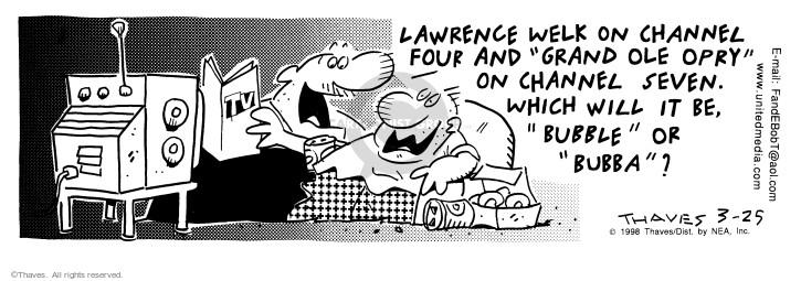 Comic Strip Bob Thaves Tom Thaves  Frank and Ernest 1998-03-25 program