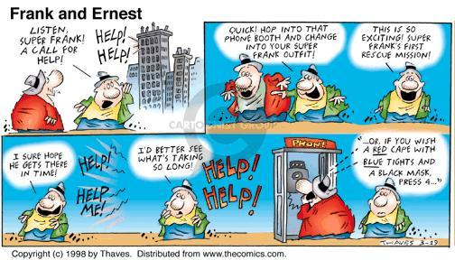 Comic Strip Bob Thaves Tom Thaves  Frank and Ernest 1998-03-29 telephone