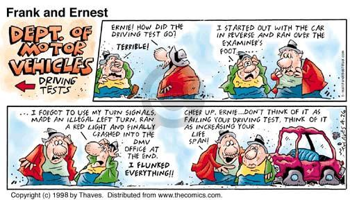 Cartoonist Bob Thaves Tom Thaves  Frank and Ernest 1998-04-26 motor