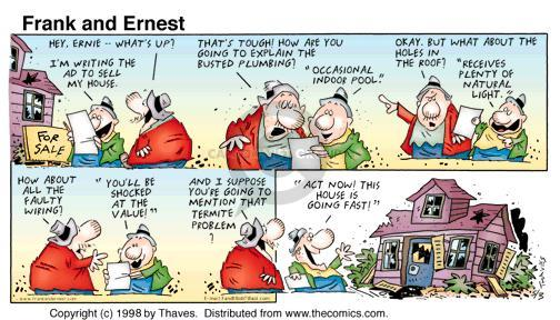 Comic Strip Bob Thaves Tom Thaves  Frank and Ernest 1998-05-03 real estate sale