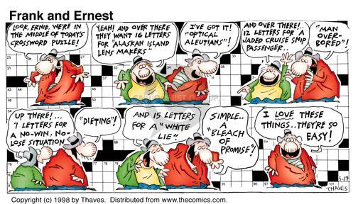 Comic Strip Bob Thaves Tom Thaves  Frank and Ernest 1998-05-17 word game