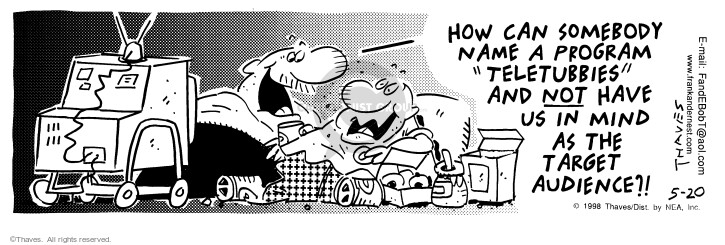 Comic Strip Bob Thaves Tom Thaves  Frank and Ernest 1998-05-20 program