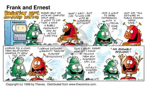 Comic Strip Bob Thaves Tom Thaves  Frank and Ernest 1998-05-24 input