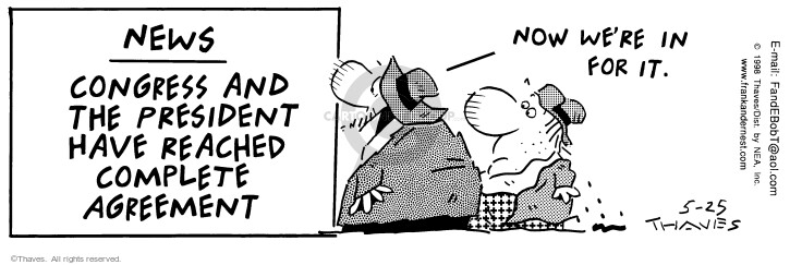 Cartoonist Bob Thaves Tom Thaves  Frank and Ernest 1998-05-25 policy
