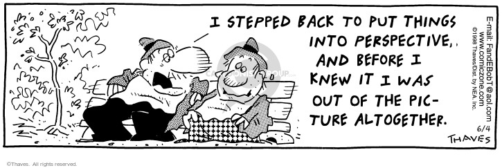 Comic Strip Bob Thaves Tom Thaves  Frank and Ernest 1998-06-04 focus