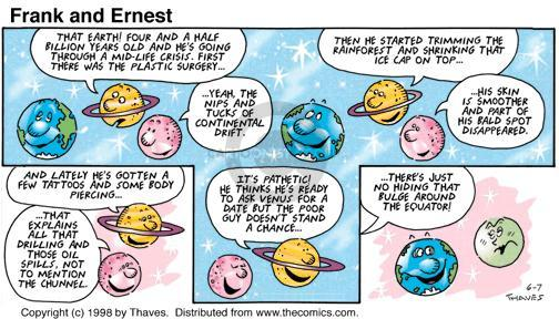 Comic Strip Bob Thaves Tom Thaves  Frank and Ernest 1998-06-07 cap