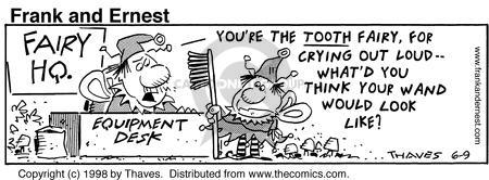 Comic Strip Bob Thaves Tom Thaves  Frank and Ernest 1998-06-09 equipment