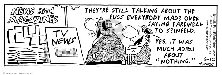 Comic Strip Bob Thaves Tom Thaves  Frank and Ernest 1998-06-10 made