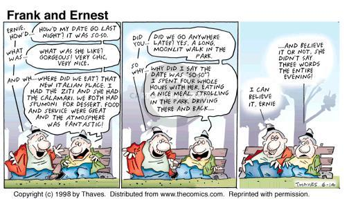 Comic Strip Bob Thaves Tom Thaves  Frank and Ernest 1998-06-14 discuss