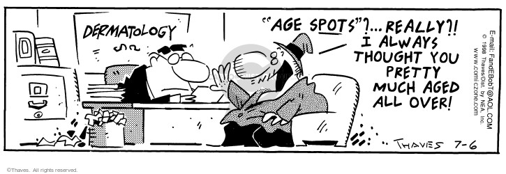 Comic Strip Bob Thaves Tom Thaves  Frank and Ernest 1998-07-06 dermatology