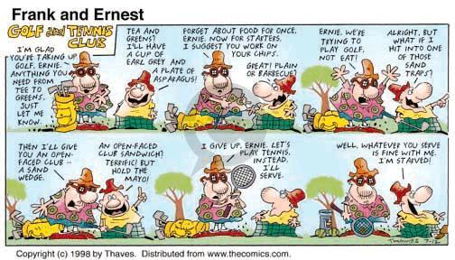 Comic Strip Bob Thaves Tom Thaves  Frank and Ernest 1998-07-12 similarity
