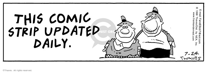 Comic Strip Bob Thaves Tom Thaves  Frank and Ernest 1998-07-24 sign