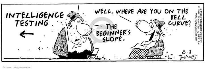 Comic Strip Bob Thaves Tom Thaves  Frank and Ernest 1998-08-03 ahead of the curve