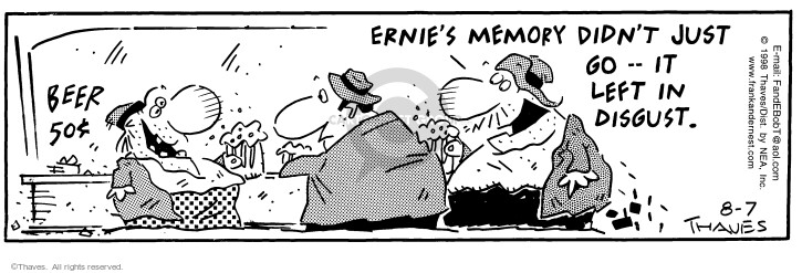 Comic Strip Bob Thaves Tom Thaves  Frank and Ernest 1998-08-07 long-term