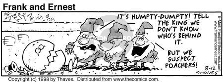 Comic Strip Bob Thaves Tom Thaves  Frank and Ernest 1998-08-12 king